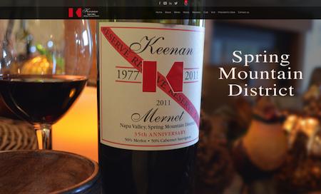 Keenan Winery Ecommerce Website Redesign