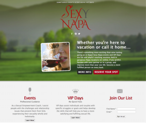 Sexy Napa Logo Design and Site Designed by DigiVino
