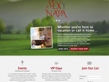 Sexy Napa Logo and Site Designed by DigiVino