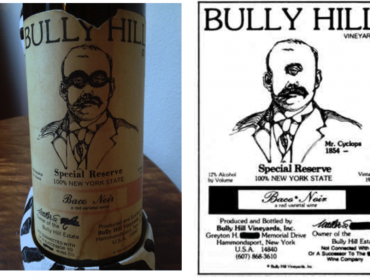 Bully Hill trademark issue illustration