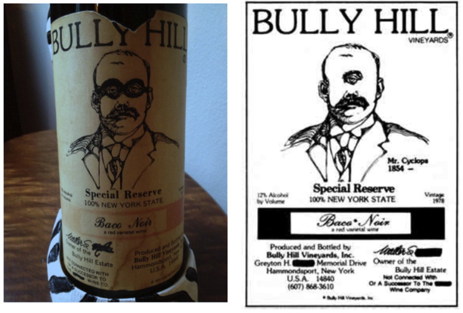 Bully Hill trademark issue illustration