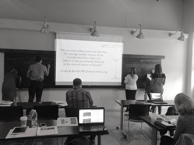 DigiVino teaching at SSU's Wine Business Institute