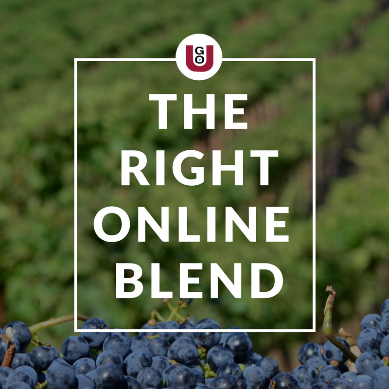 Increase Online Revenue With The Right Online Blend By DigiVino. A GO-U Marketing Mentorship Program.